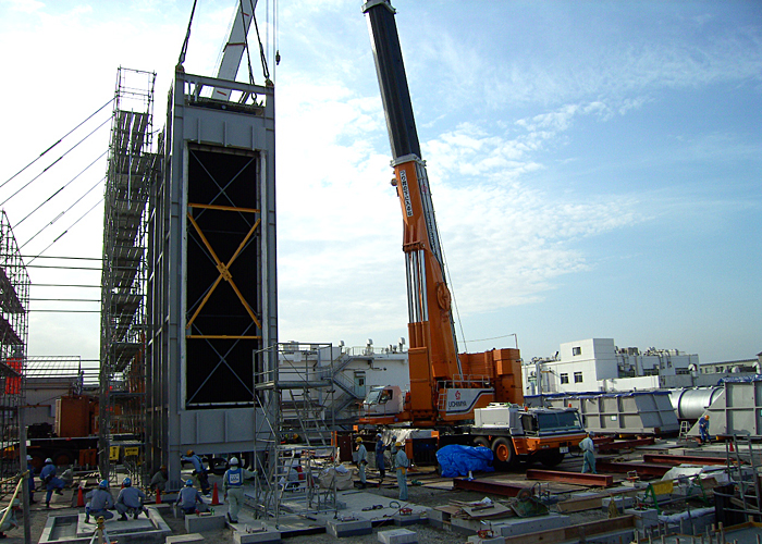Mitsui Chemical Ichihara EC construction HRSG module installation